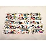 Lot de porte couteaux multicolores, verre fusionné, arc-en-ciel, verre dichroïque, art de la table, realisation artisanale, F