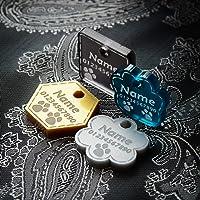 Medagliette per cani di lusso | Etichette nome gatto | ID dell'animale domestico personalizzato inciso | Etichetta…