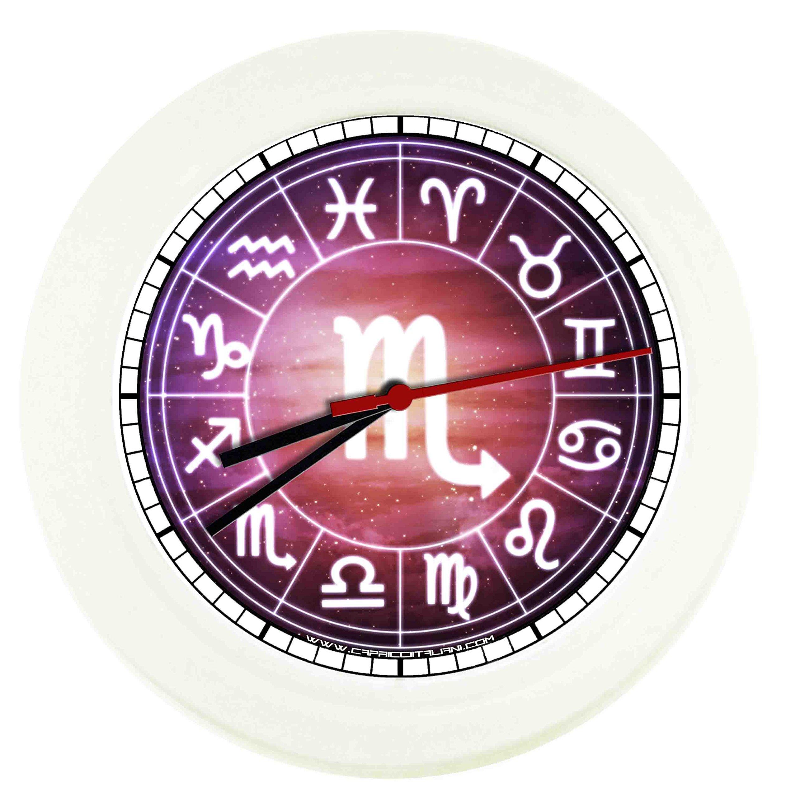Orologio da parete segno zodiacale scorpione