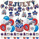 Juego de 40 decoraciones patrióticas del 4 de julio de 20 piezas decoración Independencia los Estados Unidos banderines colga