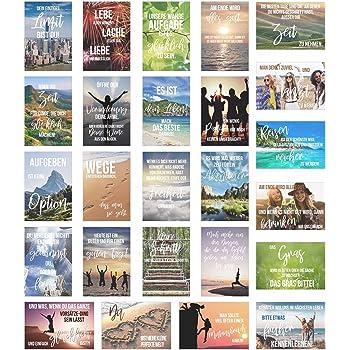 20er postkarten set leben mit 20 spr chen zitaten postkarte mit spruch. Black Bedroom Furniture Sets. Home Design Ideas