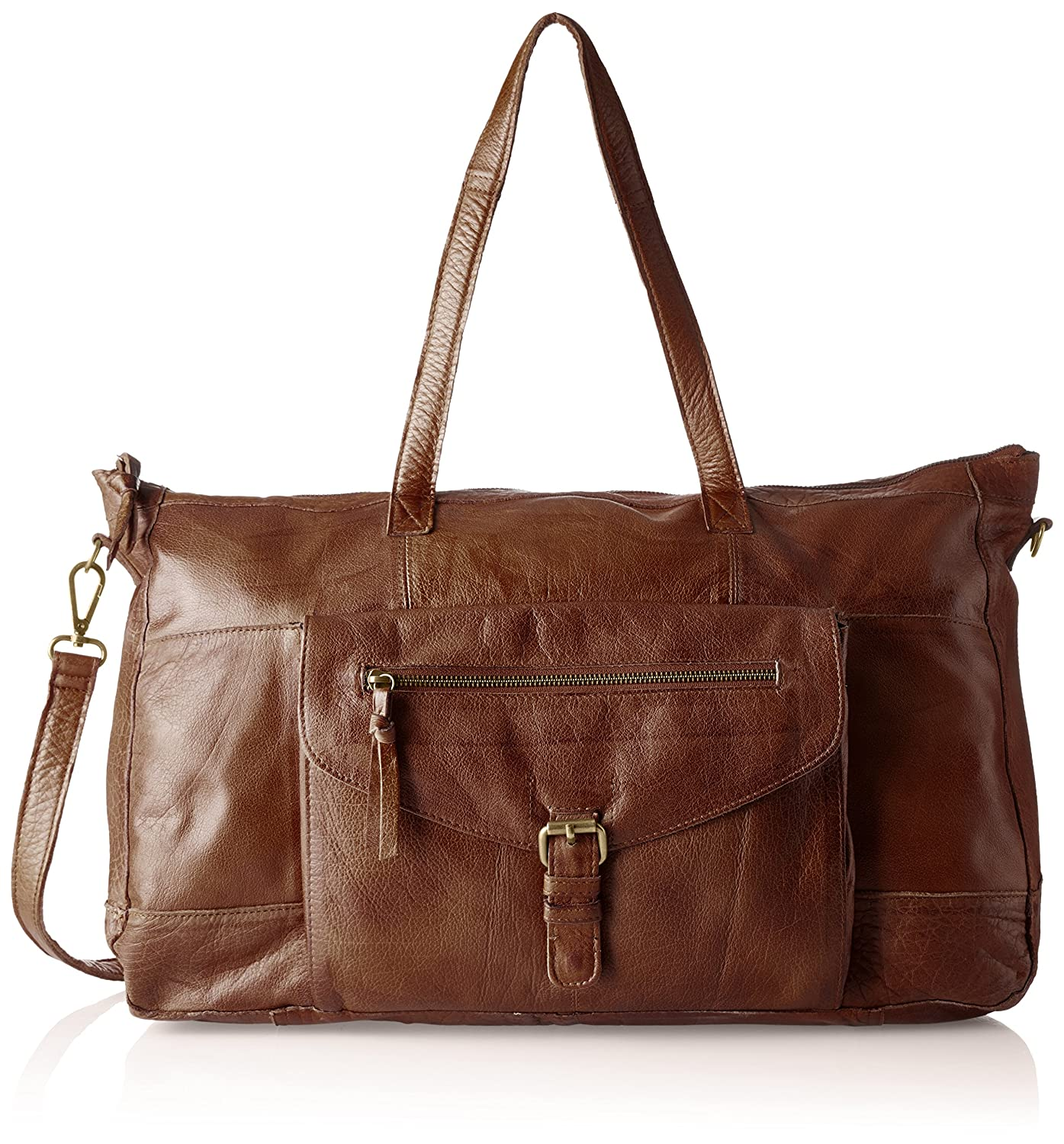 TOTALLY ROYAL LEATHER SMALL BAG NOOS 17055351 Damen Schultertaschen 32x20x12 cm (B x H x T), Braun (Cognac) Pieces
