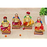 JH Gallery Handmade Metal Material Puppet Diyas Rajasthani Dolls Tealight/Diya/Diwali Diya/Idol Diyas Holders Gift for Diwali