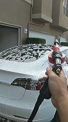 Houkiper Autowaschschaum Pistole Auto Schaumsprüher Reinigungspistole Flasche 900 Ml Wasserschaum Shampoo Pistole Für Van Motorrad Fahrzeug Garten Auslaufsichere Verbindung Garten