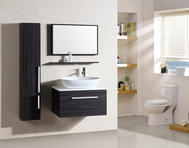 Badezimmermöbel Set   Badmöbel Saint Tropez Wenge   M 70110B/926   Spiegel    Hänge /Unterschrank   Waschbecken: Amazon.de: Küche U0026 Haushalt