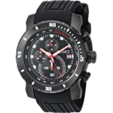 ROBERTO BIANCI WATCHES Men's Classico Stainless Steel Quartz Watch with Silicone Strap, Black, 23 (Model: RB55070)