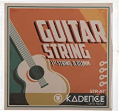Kadence Acoustic Guitar Single 1st E String (White, KAD-STRA-1ST) - Pack of 3