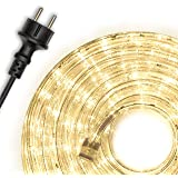 Nipach GmbH 20m 480 LED lichtslang lichtslang warm wit - binnen en buiten - energiebesparende verlichting decoratie voor tuin