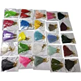 GOELX Handmade Silk Tassel Earrings for Women & Girls