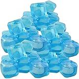 trends4ever 50 Eiswürfel blau/türkis Party wiederverwendbar Eiswürfelform Kunststoff Dauereiswürfel