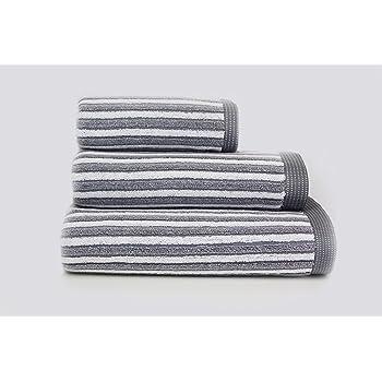 Hotel Quality Cotton Striped Towels Hand Bath Towel or Bath Sheet (sliver  white d14f1ec76