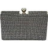 Mehrunnisa Crystals Rectangular Box Clutch Evening Bag For Women