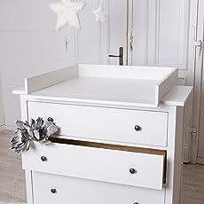 Neu! Wickelaufsatz, Wickeltischaufsatz mit runden Kanten für IKEA Hemnes Kommode!