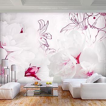... Fototapeten   Vlies Tapeten   Vliestapete   Wandtapete   Moderne  Wanddeko Wandbild   Wand Dekoration Schlafzimmer Wohnzimmer   Natur  Pflanzen Lilie Rosa
