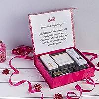 Iba Makeup Gift Set (Fair) - Foundation, Compact, Primer, Lipsticks, Kajal