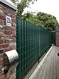 """Sichtschutz SIGMA für Doppelstabmatten 26 lfdm in moosgrün, """"Made in Germany"""""""