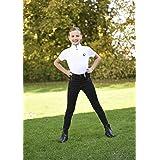 Covalliero Pantalones de equitación para niños Basic Plus, Infantil, Pantalones de equitación, 321003-0, Negro, 140