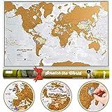 Mappa del mondo da grattare e idee regalo - Extra large - 84 x 59 cm - Maps International - Da più di 50 anni nel settore del
