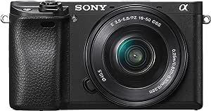 Sony Alpha 6300 Kit Fotocamera Digitale Mirrorless Compatta con Obiettivo Intercambiabile SEL 16-50 mm, Sensore APS-C CMOS Exmor HD da 24.2 MP, 425 pt Fast Hybrid AF 11 fps, Nero
