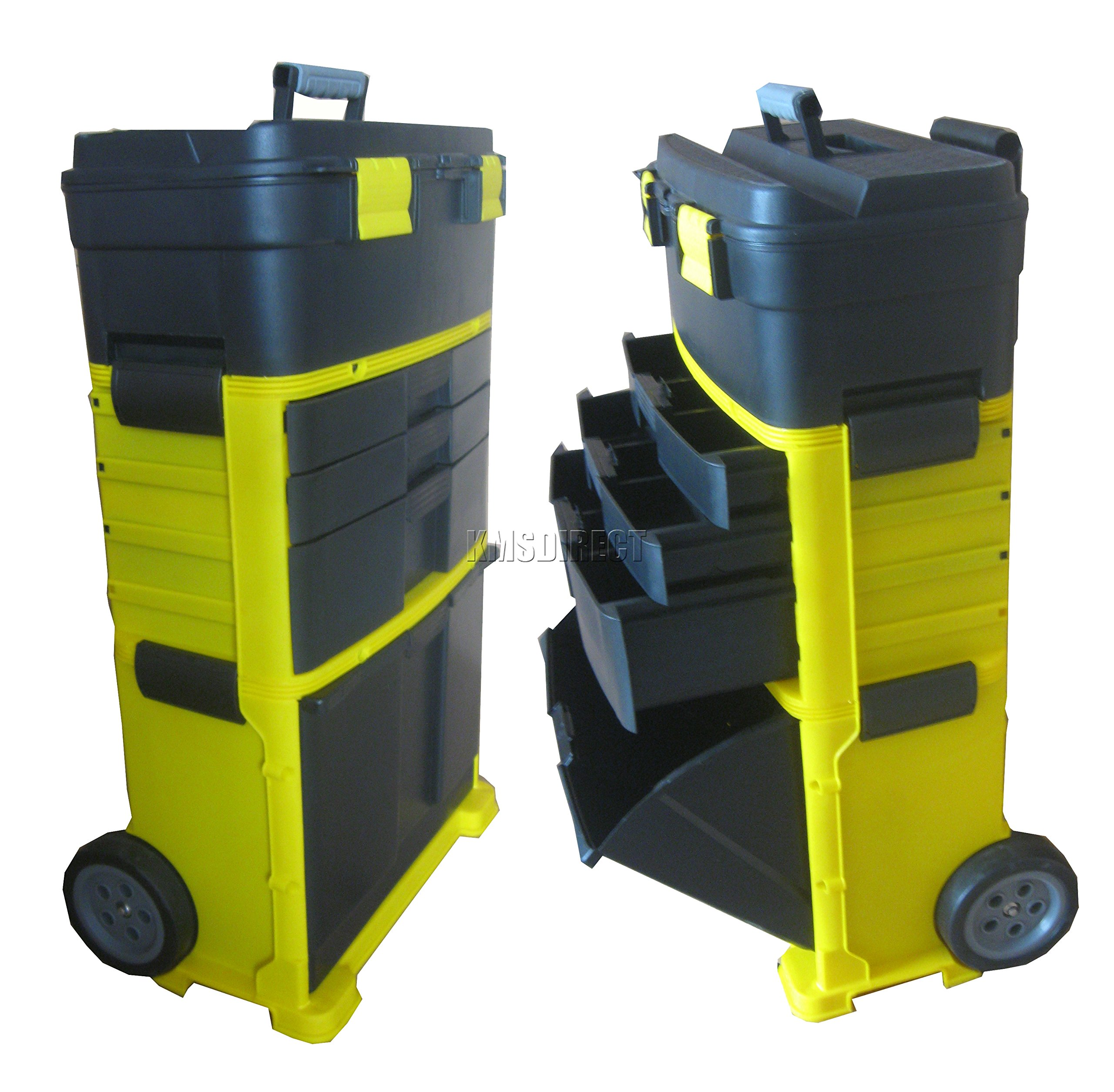 Extra Large Tool Box Heavy Duty On Wheels Rolling Plastic Storage Cabinet Chest