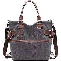 Myhozee Canvas Damen Handtasche/Umhängetasche Schultertasche Vintage Taschen Multifunktionale Groß Hobo Bag für Schule…