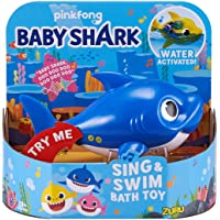 ZURU ROBO ALIVE JUNIOR 25282B Daddy Shark Sing and Swim Bath Toy, Blue