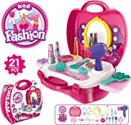 Popsugar Fashion Beauty Set with Hair and Make up Accessories for Girls,