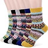 Tencoz Calze di Lana, 6Pack Le calze di lana da donna donne calzini inverno caldo morbido annata per l'inverno