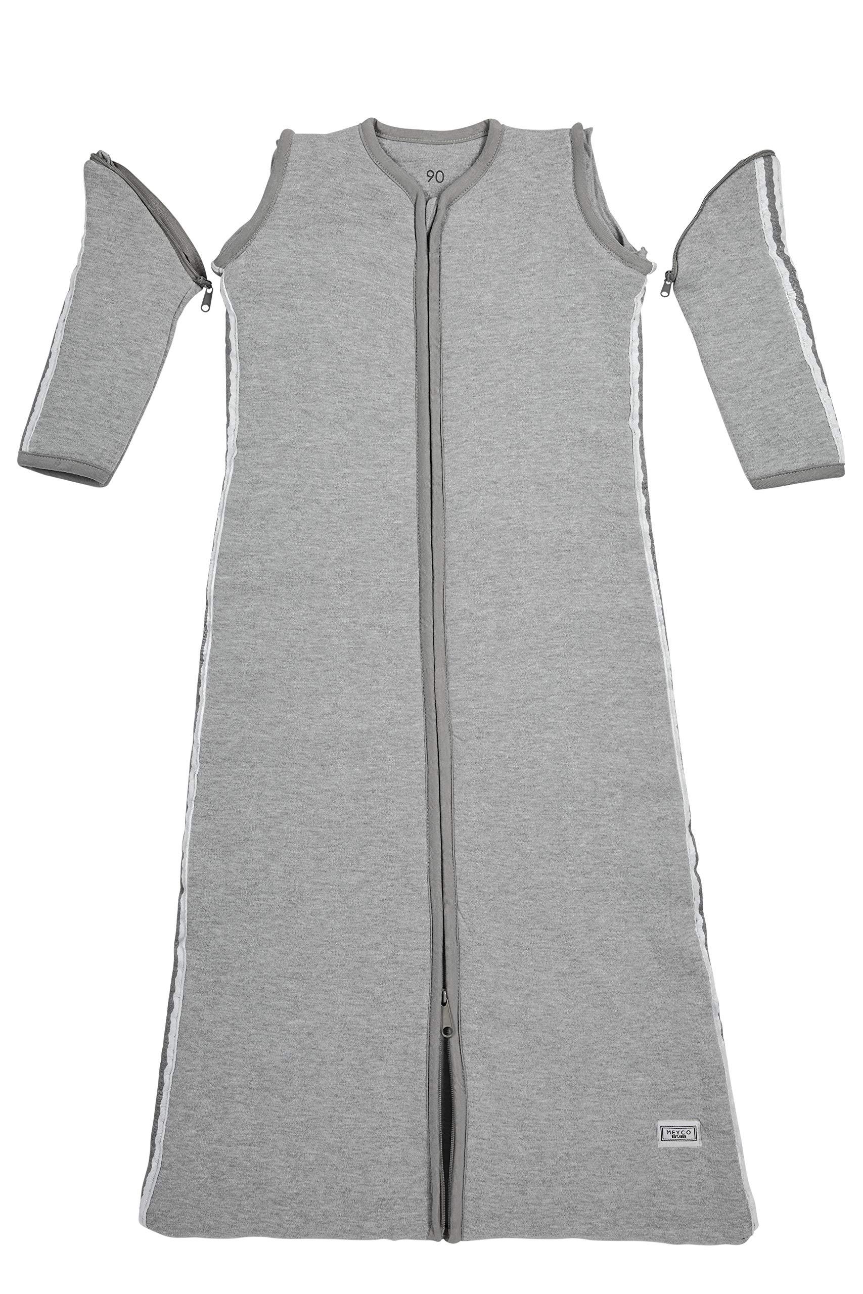 912 xkmMNIL - Meyco 514025Saco de dormir de invierno 90cm, Gris con Lurex ribete gris