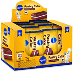 Pillsbury Pastry Cake, Chocolates, 25g (Pack of 12)
