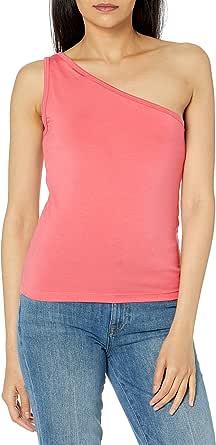 The Drop Payton, Top Aderente, Asimmetrico E Monospalla Tank-Top-And-Cami-Shirts Donna