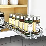 """Lynk Professional 430421DS Slide Out Spice Rack Upper Cabinet Organizer, 4"""" Single, Chrome"""