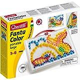Quercetti- Fanta Color Portable Large Gioco di Composizione, Multicolore, 283 Pezzi, 950, dai 3 ai 6 anni