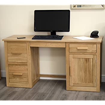 arden solid oak furniture large office computer desk