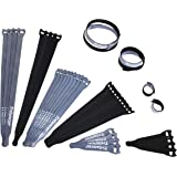 Reusable Cable Straps Wire Ties, Pack of 40 Trilancer Adjustable Cord Fastener Cable Organizer(3 Sizes/Black)