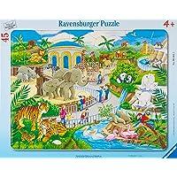 Ravensburger- Puzzle Cadre Visite au Zoo 45 pièces, 06661