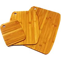 Prosharp® Planche à Découper en Bambou ♻ Ensemble Professionnel de 3 Planches à découper (37X28CM), (23X30), (15X19) Plateau Vintage en Bois, Plateau à Fromage