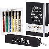 Harry Potter Set Cancelleria Con Agenda A5, Set Penne E Astuccio Portapenne, Harry Potter Gadget Ufficiali, Regalo Per Bambin