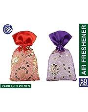 3Pure Perfume Potli Rose Kesar Chandan & Lavender Air Freshener (50gm, Set of 2pcs)