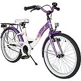 BIKESTAR Jugendfahrrad Kinderfahrrad für Mädchen 20 Zoll ab 6 Jahre, 24 Zoll ab 9 Jahre | Fahrrad für Kinder…