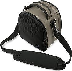 VanGoddy Laurel DSLR Camera Carrying Bag with Removable Shoulder Strap (Steel Grey)