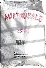 2x 25 kg Streusalz / Auftausalz mit grober Körnung im PVC Sack, dadurch langanhaltende Auftaufunktion