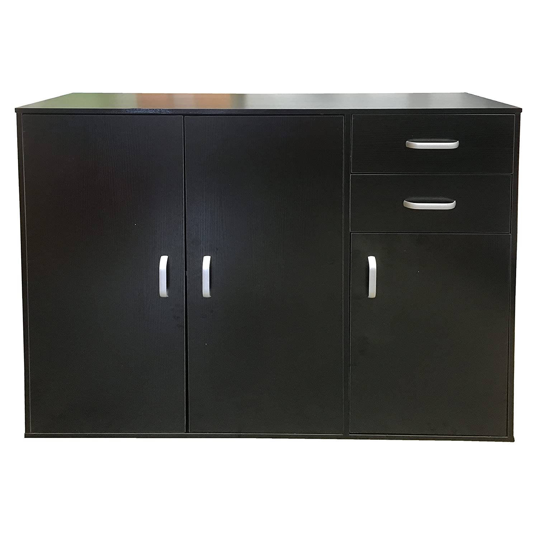 Redstone Sideboard Cupboard - Black White Beech or Dark Walnut - 3 ...