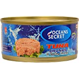 Oceans Secret - Canned Tuna in Spring Water (180 g) (Pack of 4) | Immunity Booster | Superfood