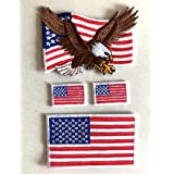 60 X 35 Mm Amerika Flagge Usa Flag Washington Patch Aufnäher Aufbügler 0640 B Auto