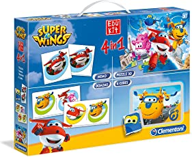 Clementoni 52236 - Super Wings - Edukit 4 in 1