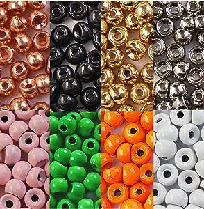 0,06g 25 x MESSING Perlen 2,8 mm 7//64 Wahl der Farben f/ür Fliegenbinden