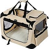 SONGMICS Hundebox Transportbox Auto Hundetransportbox faltbar Katzenbox Oxford Gewebe
