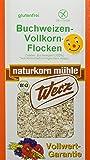 Werz Buchweizen-Vollkorn-Flocken glutenfrei, 4er Pack (4 x 250 g) - Bio