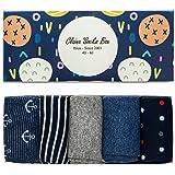 Desconocido Regalo Hombre Calcetines Estampados de Algodón Moda Casuales Caja x 5pax EU 40-46 UK 6-11 ✪✪✪✪✪